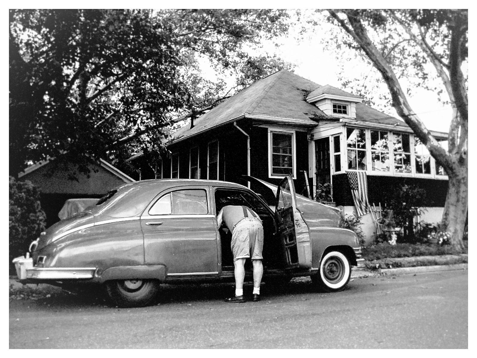 NY Photography Americana Vintage Black And White Old Car